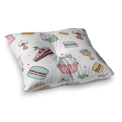 Louise Sweet Sweet Cake Food Square Floor Pillow Size: 23 x 23