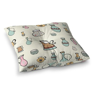 Louise Jugs Pattern Square Floor Pillow Size: 26 x 26