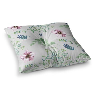 Louise Summer Flower Pattern Square Floor Pillow Size: 26 x 26