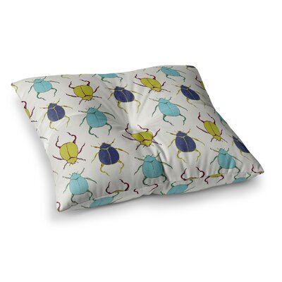 Laurie Baars Beetles Square Floor Pillow Size: 26 x 26