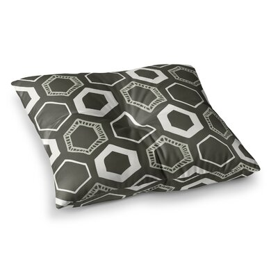 Laurie Baars Hexy Geometric Square Floor Pillow Size: 26 x 26