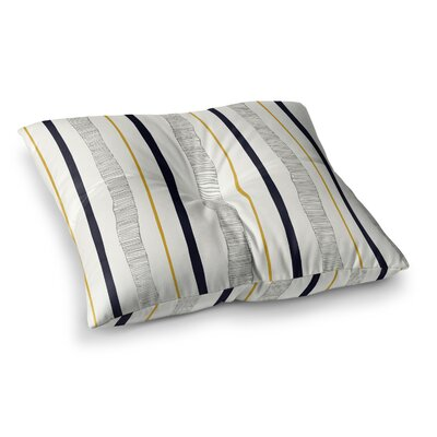 Laurie Baars Textured Stripes Lines Square Floor Pillow Size: 26 x 26