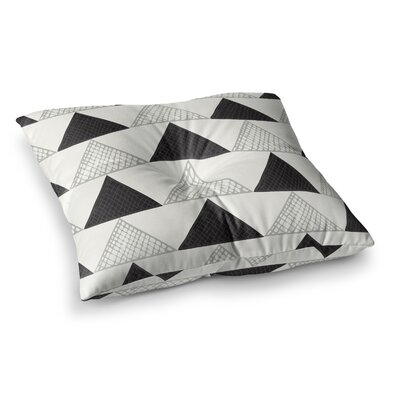 Laurie Baars Textured Triangles Geometric Square Floor Pillow Size: 23 x 23