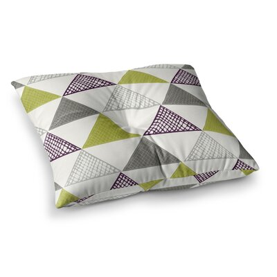 Laurie Baars Textured Triangles Square Floor Pillow Size: 23 x 23
