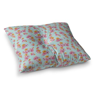 Laura Escalante Paper Flower Square Floor Pillow Size: 26 x 26
