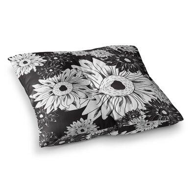 Laura Escalante Midnight Florals Sunflower Square Floor Pillow Size: 23 x 23