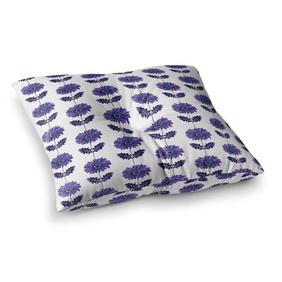 Laura Escalante Gerbera Flower Square Floor Pillow Size: 26 x 26, Color: Blue