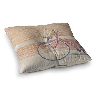 Laura Evans a Bicycle Square Floor Pillow Size: 26 x 26