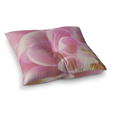 Laura Evans Up Close and Personal Floral Square Floor Pillow Size: 23 x 23