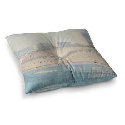 Laura Evans Santa Monica Beach Square Floor Pillow Size: 26 x 26