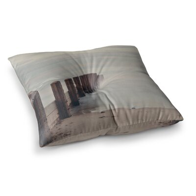 Laura Evans Brush Strokes Square Floor Pillow Size: 23 x 23