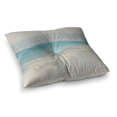 Laura Evans Waves Square Floor Pillow Size: 23 x 23