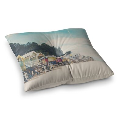 Laura Evans Small Spaces Beach Coastal Square Floor Pillow Size: 23 x 23