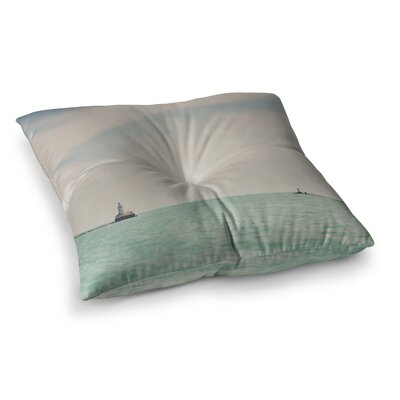 Laura Evans The Lighthouse Photography Square Floor Pillow Size: 23 x 23