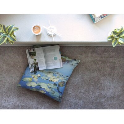 Laura Evans The Lily Pond Photography Square Floor Pillow Size: 23 x 23