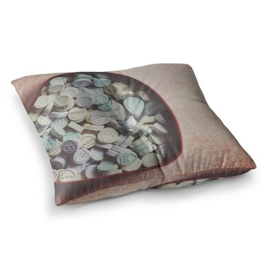 Laura Evans Love Hearts Photography Square Floor Pillow Size: 26 x 26