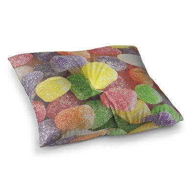 Libertad Leal I Want Gum Drops Square Floor Pillow Size: 23 x 23