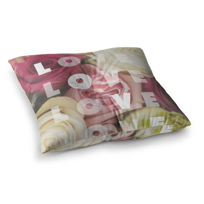 Libertad Leal Love Love Love Roses Square Floor Pillow Size: 26 x 26