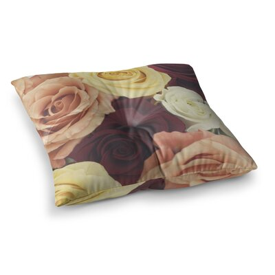 Libertad Leal Vintage Roses Square Floor Pillow Size: 26 x 26