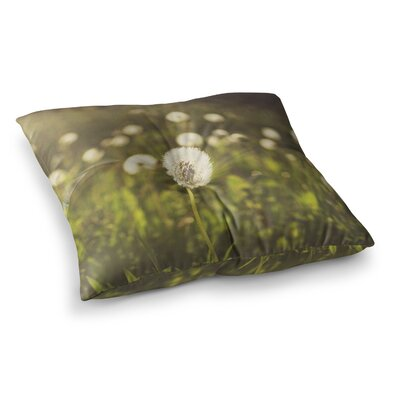 Libertad Leal As You Wish Dandelions Square Floor Pillow Size: 23 x 23