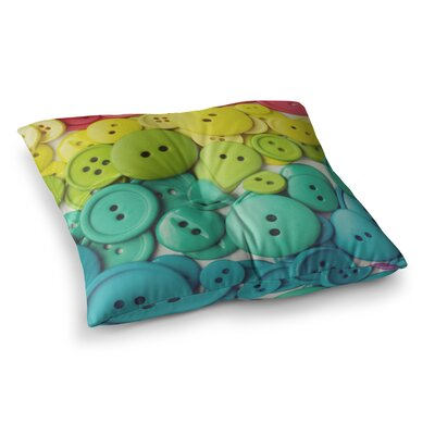 Libertad Leal Cute as a Button Square Floor Pillow Size: 23 x 23