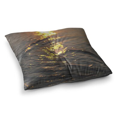 Libertad Leal Still Waters Sunset Square Floor Pillow Size: 23 x 23