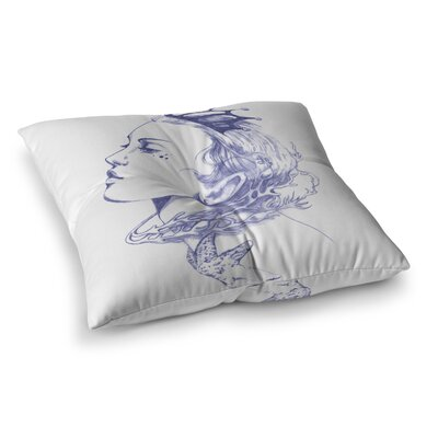 Lydia Martin Queen of the Sea Square Floor Pillow Size: 23 x 23, Color: Purple