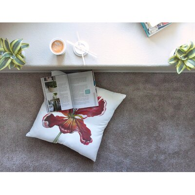 Lydia Martin Open Tulip Square Floor Pillow Size: 26 x 26