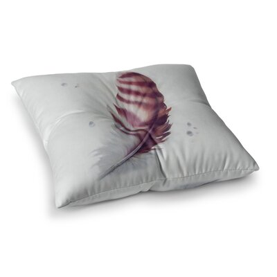 Lydia Martin the Feather Square Floor Pillow Size: 26 x 26