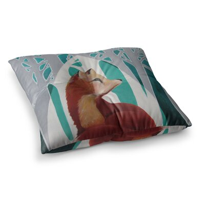 Lydia Martin Fox Forest Square Floor Pillow Size: 26 x 26