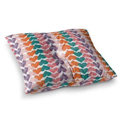 Louise Machado Hearts Square Floor Pillow Size: 23 x 23