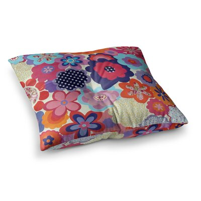 Louise Machado Patchwork Flowers Square Floor Pillow Size: 26 x 26