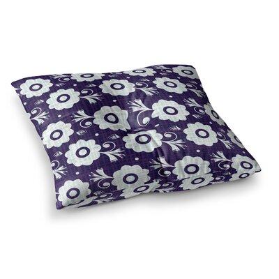 Louise Machado Flower Square Floor Pillow Size: 26 x 26