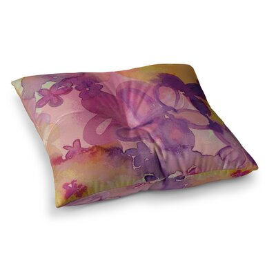 Louise Machado Dissolved Flowers Square Floor Pillow Size: 26 x 26