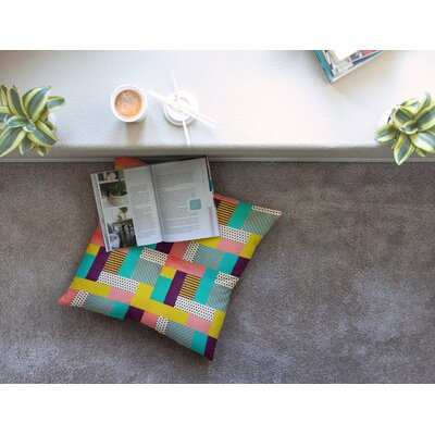 Louise Machado Geometric Love Pattern Square Floor Pillow Size: 26 x 26
