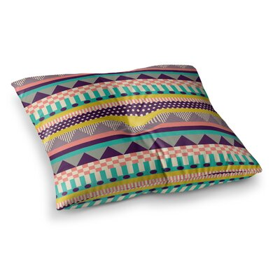 Louise Machado Decorative Stripes Square Floor Pillow Size: 23 x 23