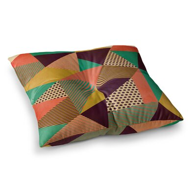 Louise Machado Geometric Love II Square Floor Pillow Size: 23 x 23