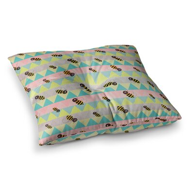 Louise Machado Little Bee Chevron Square Floor Pillow Size: 23 x 23