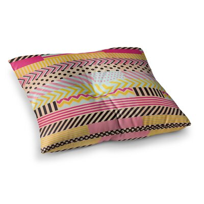 Louise Machado Decorative Tape Square Floor Pillow Size: 23 x 23