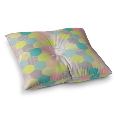 Louise Machado Hexagon Geometric Square Floor Pillow Size: 26 x 26