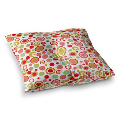 Louise Machado Bubbles Warm Circles Square Floor Pillow Size: 26 x 26