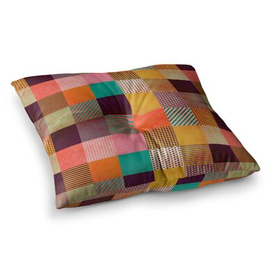 Louise Machado Decorative Pixel Warm Patches Square Floor Pillow Size: 26 x 26