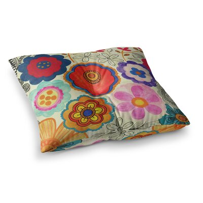 Louise Machado Charming Floral Square Floor Pillow Size: 23 x 23