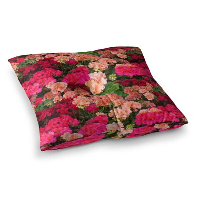Louise Machado Geranios Floral Square Floor Pillow Size: 23 x 23