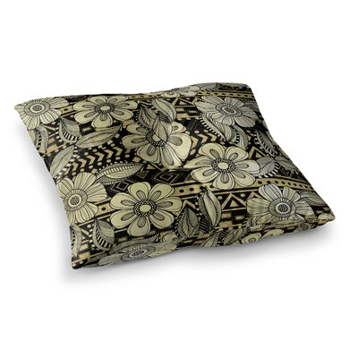 Louise Machado Ink Floral Square Floor Pillow Size: 23 x 23