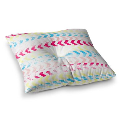 Louise Machado Arrow Art Deco Square Floor Pillow Size: 23 x 23