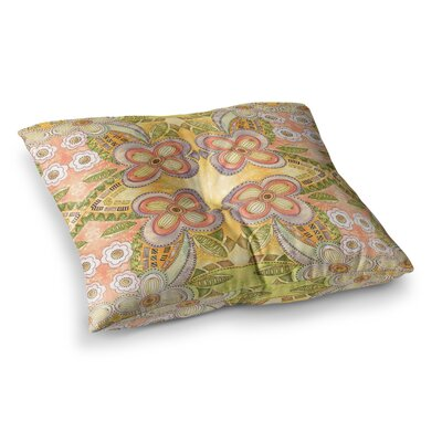 Louise Machado Ethnic Floral Illustration Square Floor Pillow Size: 23 x 23