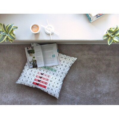 Lousie Machado Word Search Illustration Square Floor Pillow Size: 26 x 26