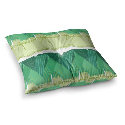 Laura Nicholson Leeks Square Floor Pillow Size: 26 x 26
