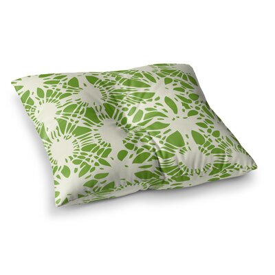 Laura Nicholson Drawnwork Square Floor Pillow Size: 26 x 26